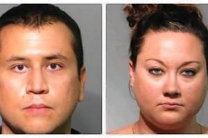 Seminole County jail mugshots of George Zimmerman and his wife, Shellie Zimmerman.