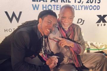 Prophet Amen Ra with the legendary Quincy Jones